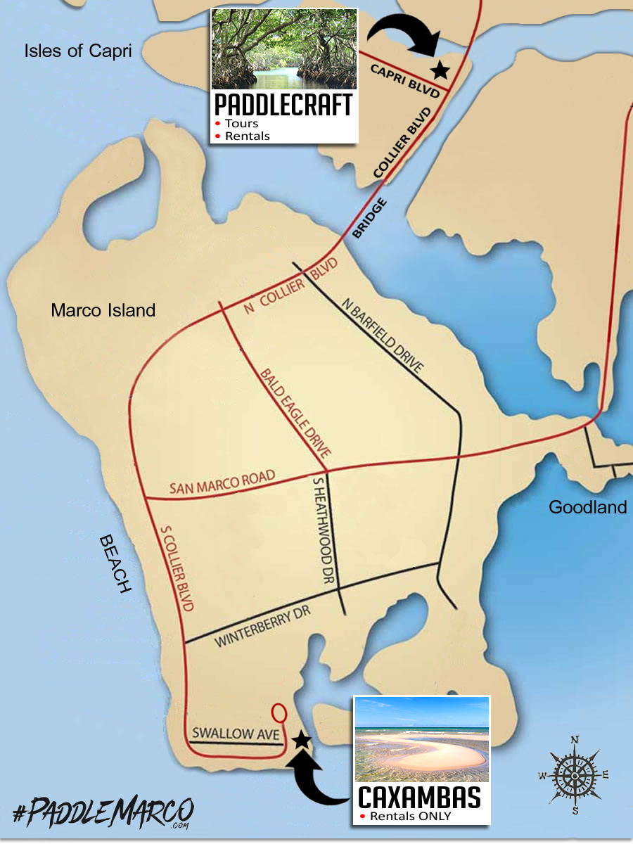 Kayak Launch Sites in Naples and Marco Island, Florida